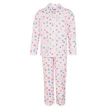 Buy John Lewis Girls' Vintage Rose Print Pyjamas, Pink Online at johnlewis.com