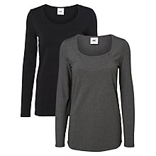 Buy Mamalicious Sofia Nell Long-Sleeved Maternity Nursing Top, Black/Grey Online at johnlewis.com