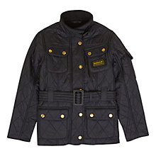 Buy Barbour Girls' International Quilt Coat, Black Online at johnlewis.com