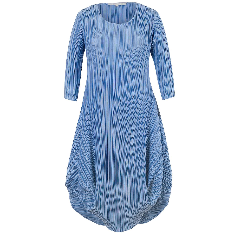 Chesca Crush Pleat Crepe Dress | Blue at John Lewis