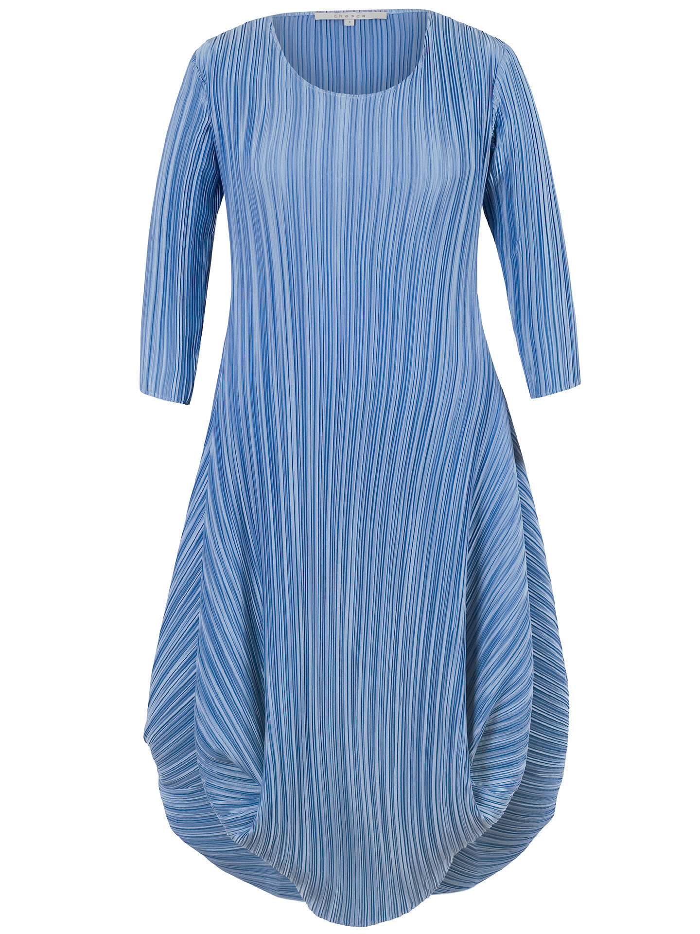Buy Chesca Crush Pleat Crepe Dress, Blue, 10-12 Online at johnlewis.com