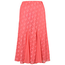 Buy Chesca Chiffon Godet Skirt, Coral Online at johnlewis.com