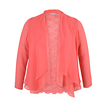 Buy Chesca Lace Back Shrug, Red Coral Online at johnlewis.com