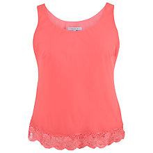 Buy Chesca Scallop Lace Top, Red Coral Online at johnlewis.com