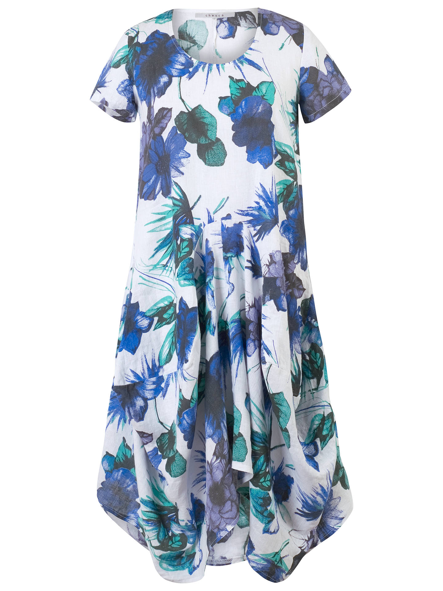 Buy Chesca Floral Print Linen Dress