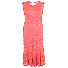 Buy Chesca Daisy Stretch Lace Cathedral Detail Dress, Coral Red Online at johnlewis.com