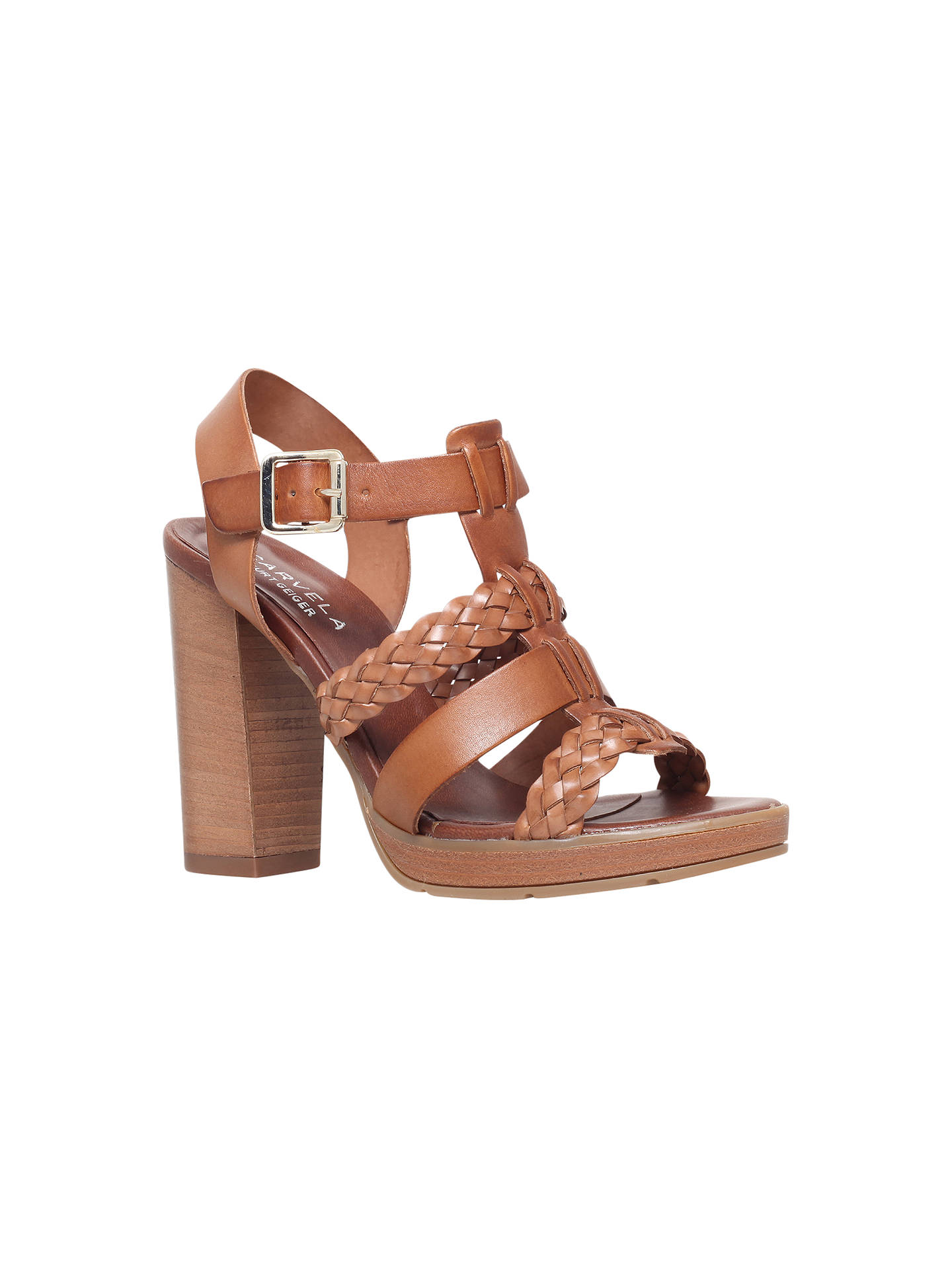 832ab029952 Carvela Krill Block Heel Sandals at John Lewis   Partners
