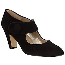 Buy John Lewis Ali Mary Jane Block Heeled Court, Black Suede Online at johnlewis.com
