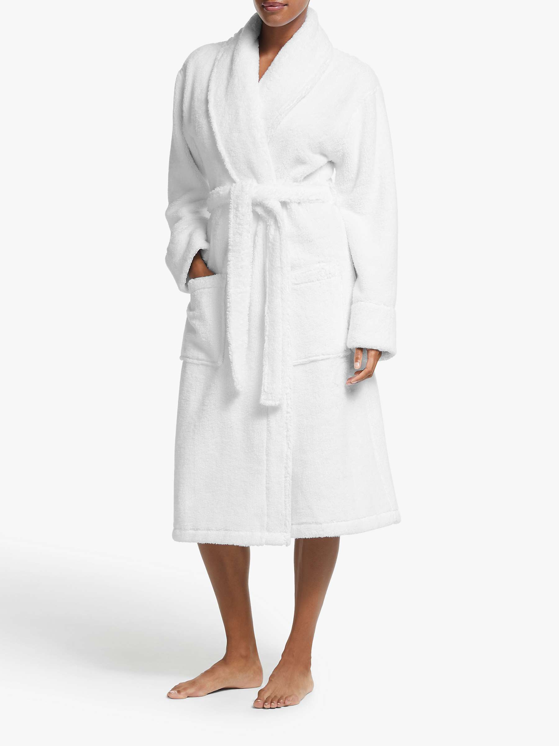 John Lewis & Partners Luxury Towelling Robe, White by John Lewis