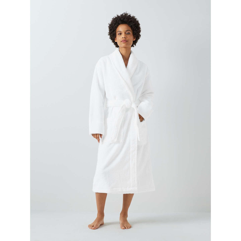 John Lewis Luxury Towelling Robe, White at John Lewis