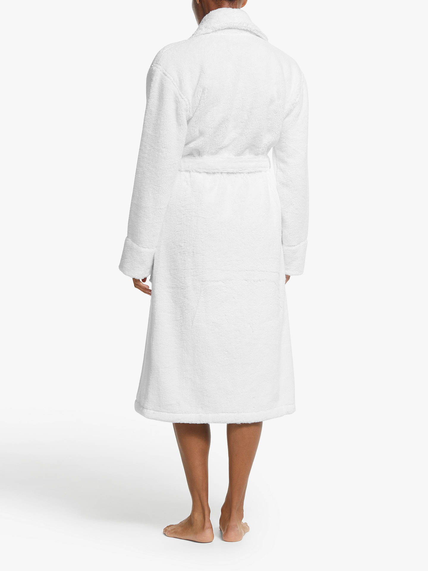 BuyJohn Lewis & Partners Luxury Towelling Robe, White, S Online at johnlewis.com