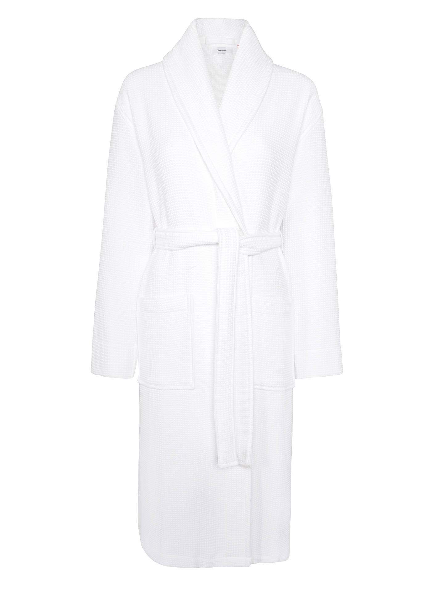 Buy John Lewis & Partners Spa Waffle Robe, White, S Online at johnlewis.com