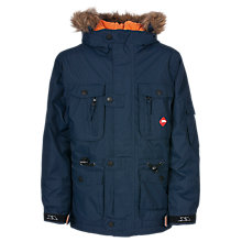 Buy Trespass Avalanche Elevate Hooded Parka Jacket, Navy Online at johnlewis.com