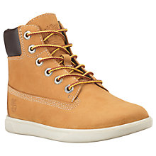 "Buy Timberland Children's Groveton 6"" Lace Boots, Brown Online at johnlewis.com"