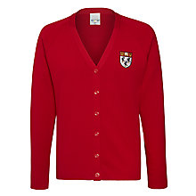 Buy Nottingham High School Unisex Cardigan, Red Online at johnlewis.com
