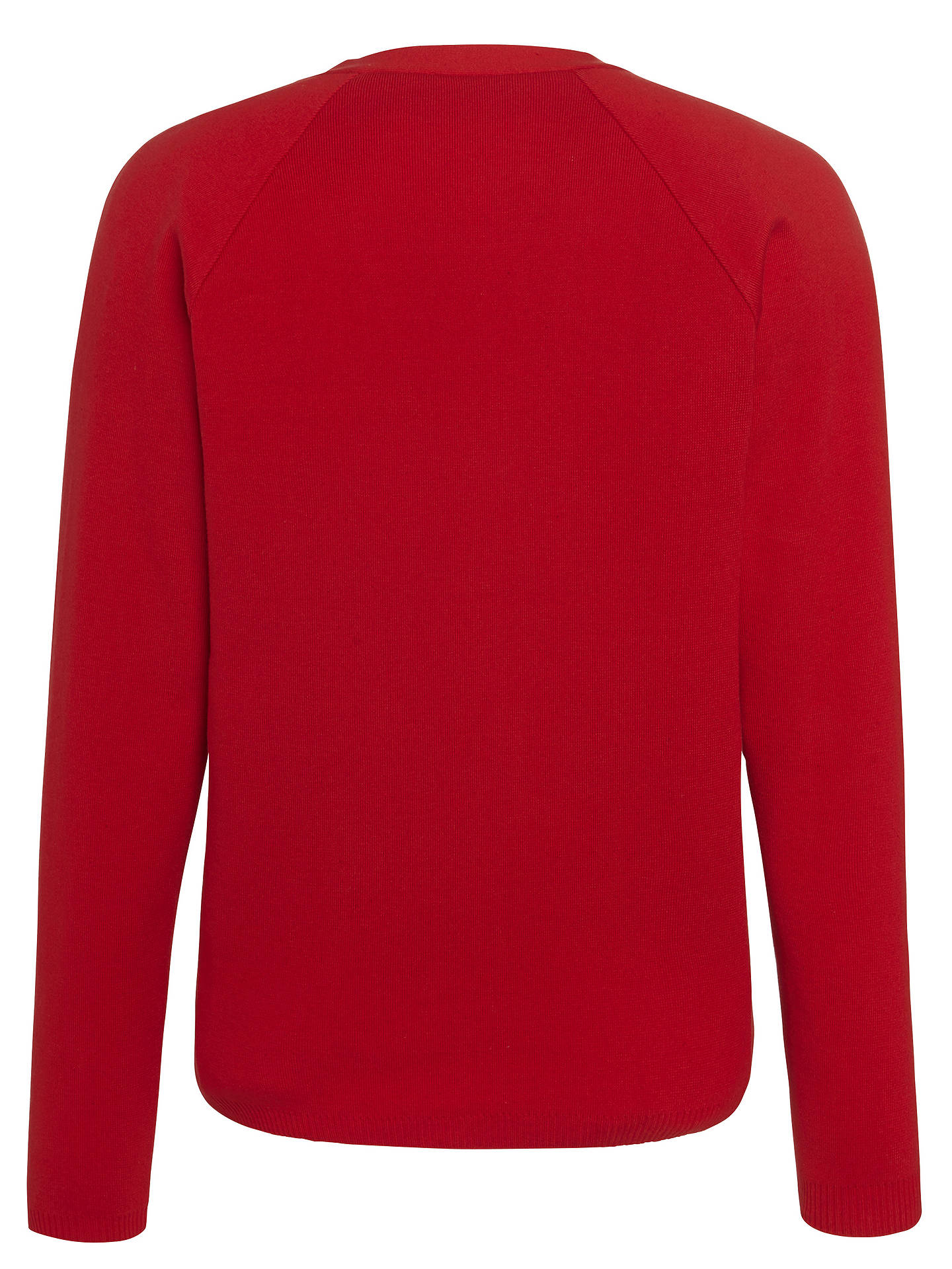 "BuyNottingham High School Unisex Cardigan, Red, Chest 30"" Online at johnlewis.com"