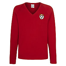 Buy Nottingham High School Unisex Pullover, Red Online at johnlewis.com
