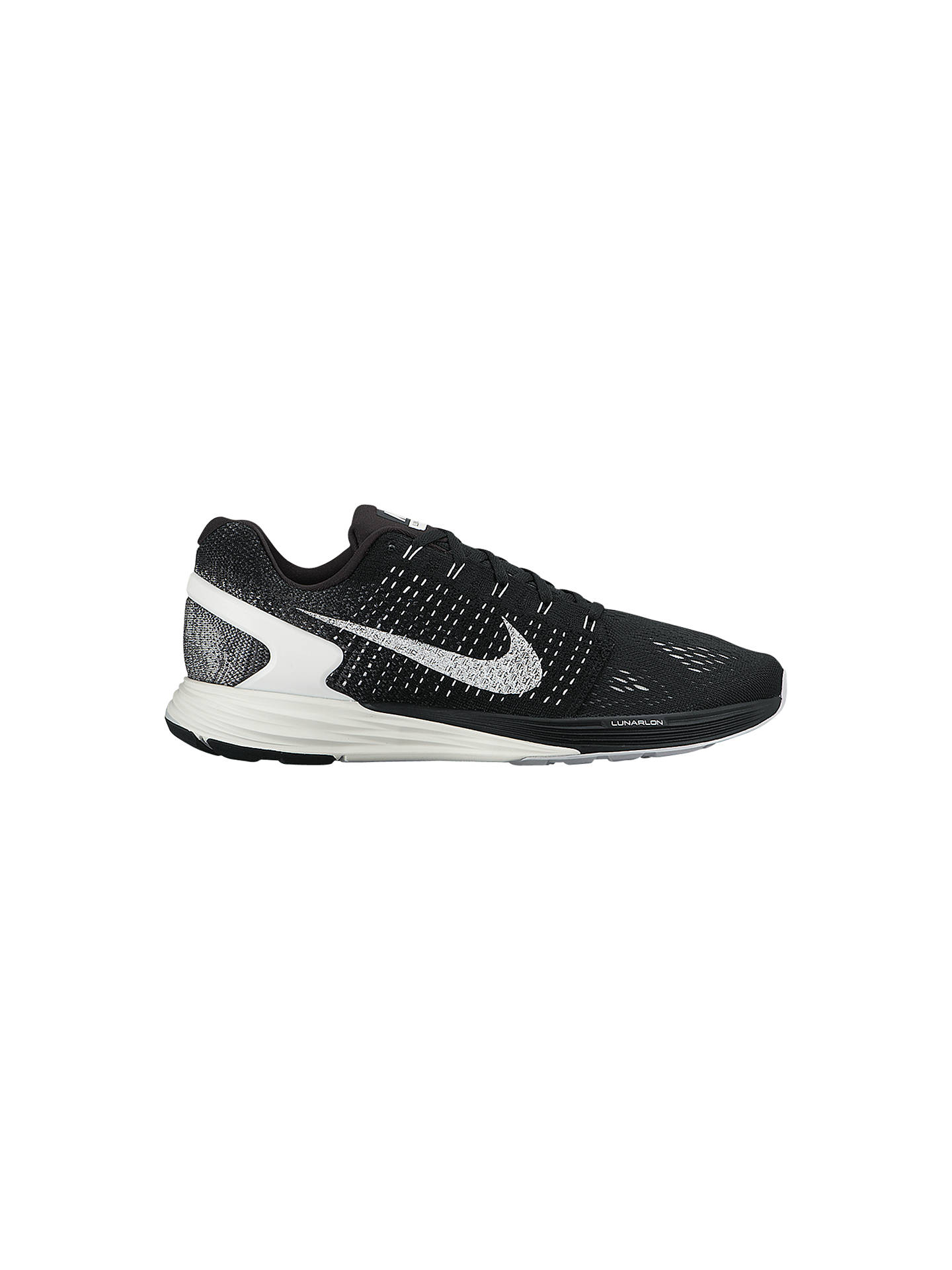 super popular 6fcb8 b5ddf Buy Nike LunarGlide 7 Men s Running Shoes, Black Anthracite, 7 Online at  johnlewis ...