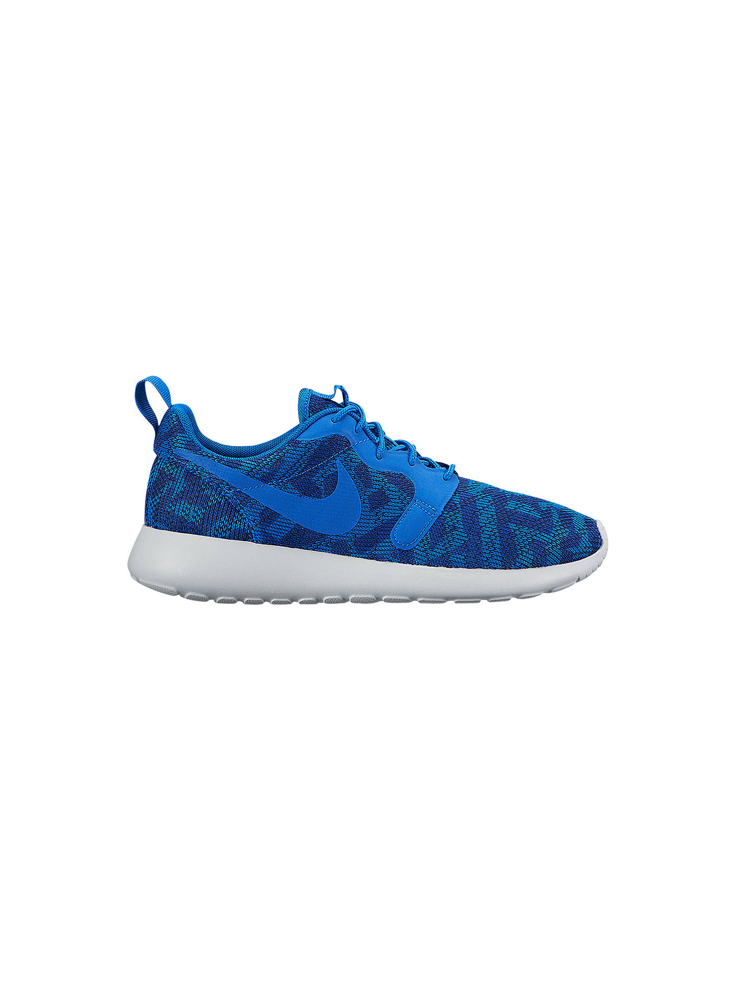 reputable site ba5a6 53ac5 BuyNike Roshe One Knit Jacquard Womens Trainers, Blue, 4 Online at  johnlewis. ...