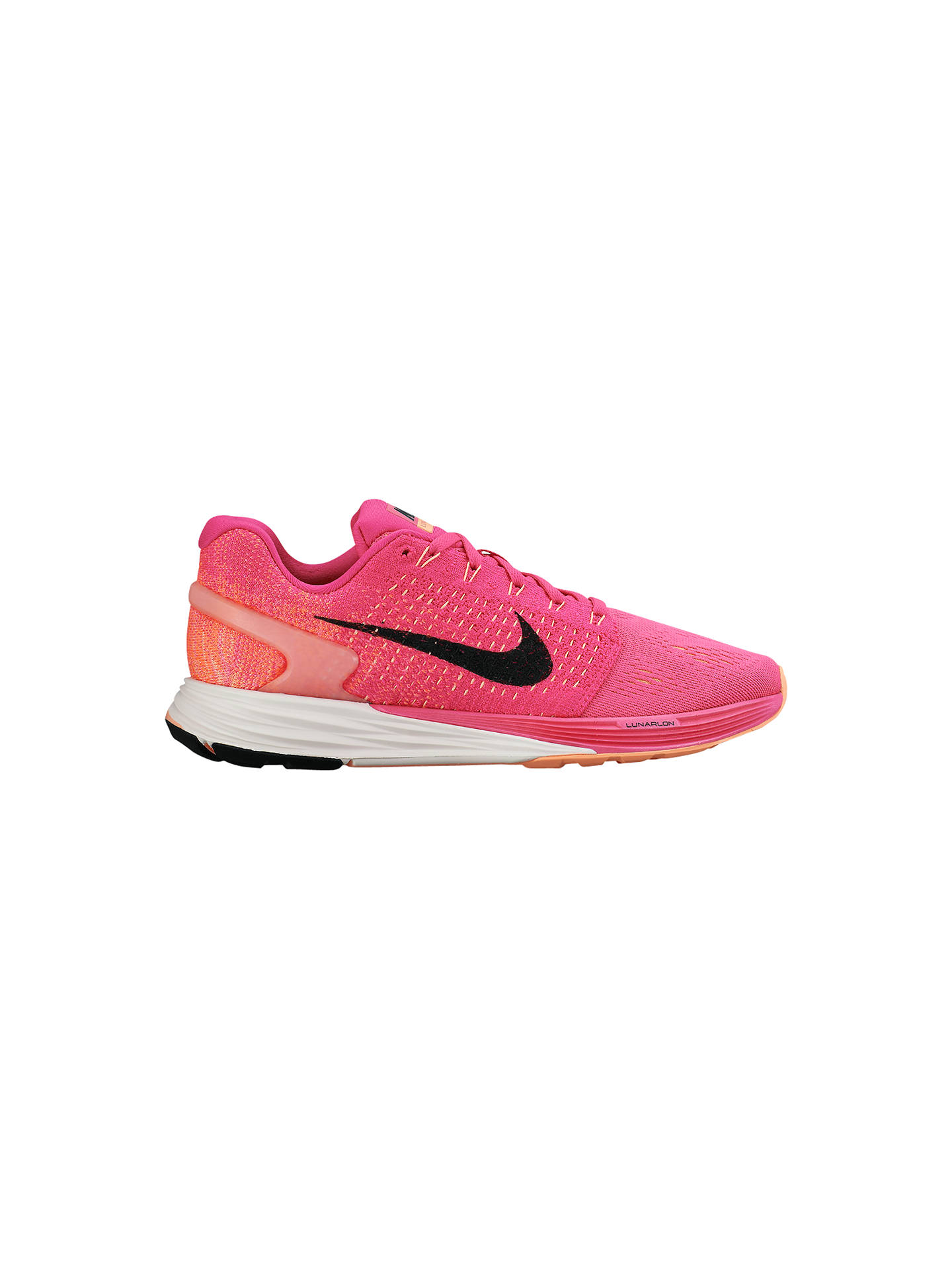 on sale 655bd dd2cb discount nike lunarglide 7 black pink 747356 005 d1b25 bb7dc  get buynike lunarglide  7 womens running shoes pink 4 online at johnlewis. 5238d 5a8dd