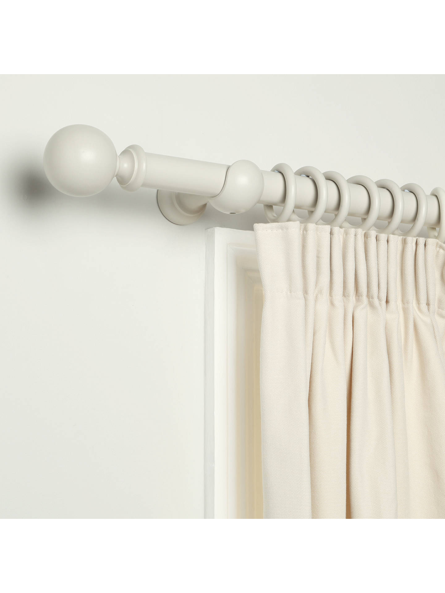BuyJohn Lewis & Partners French Grey Curtain Pole, L120 x Dia.35mm Online at johnlewis.com