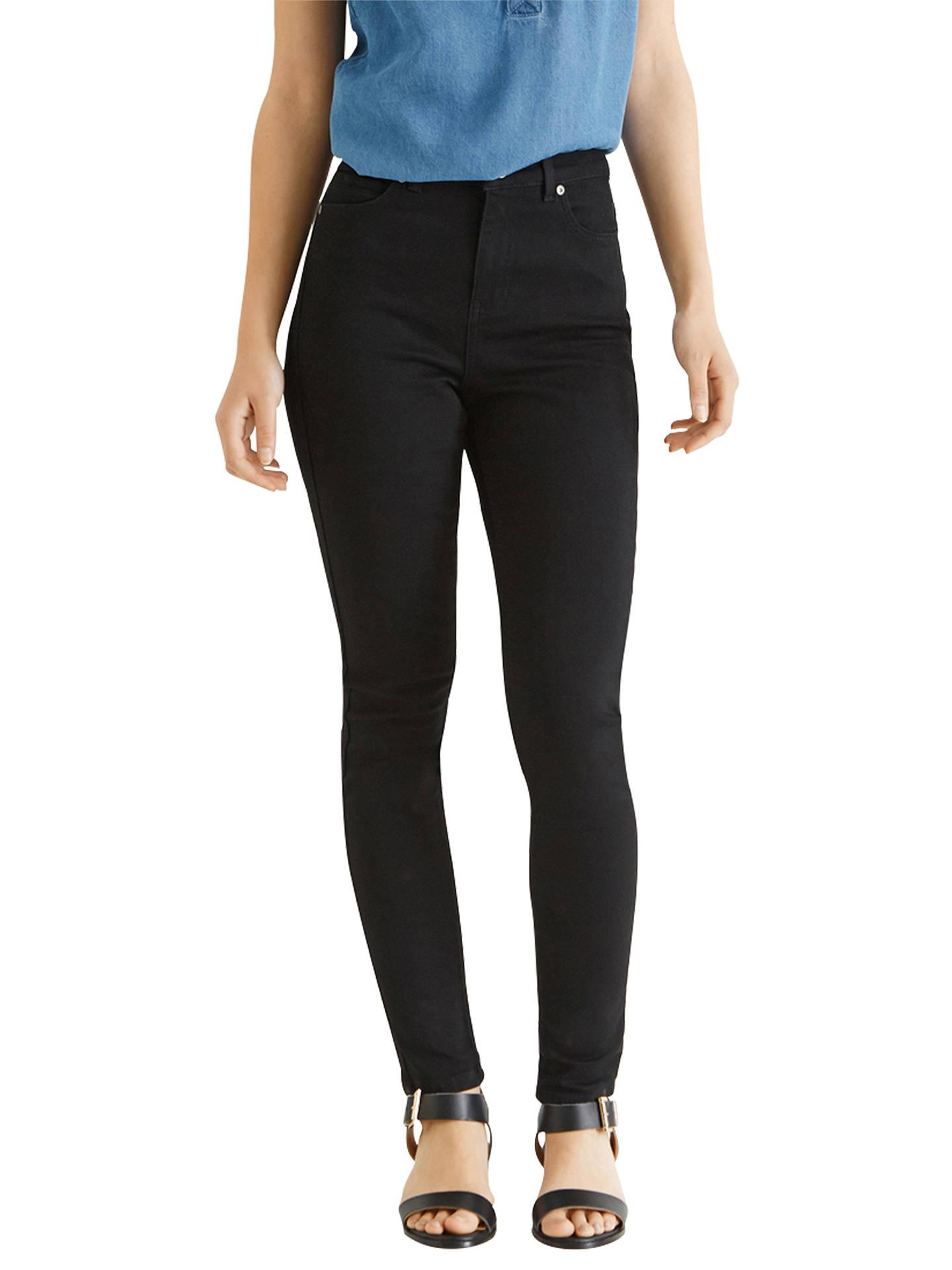 035f29aaf2e2 Buy Oasis Lily Skinny Jeans, Solid Black, 8 Online at johnlewis.com ...