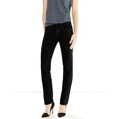 Levi's 714 Mid Rise Straight Jeans, Black Sheep