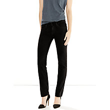Buy Levi's 714 Mid Rise Straight Jeans, Black Sheep Online at johnlewis.com
