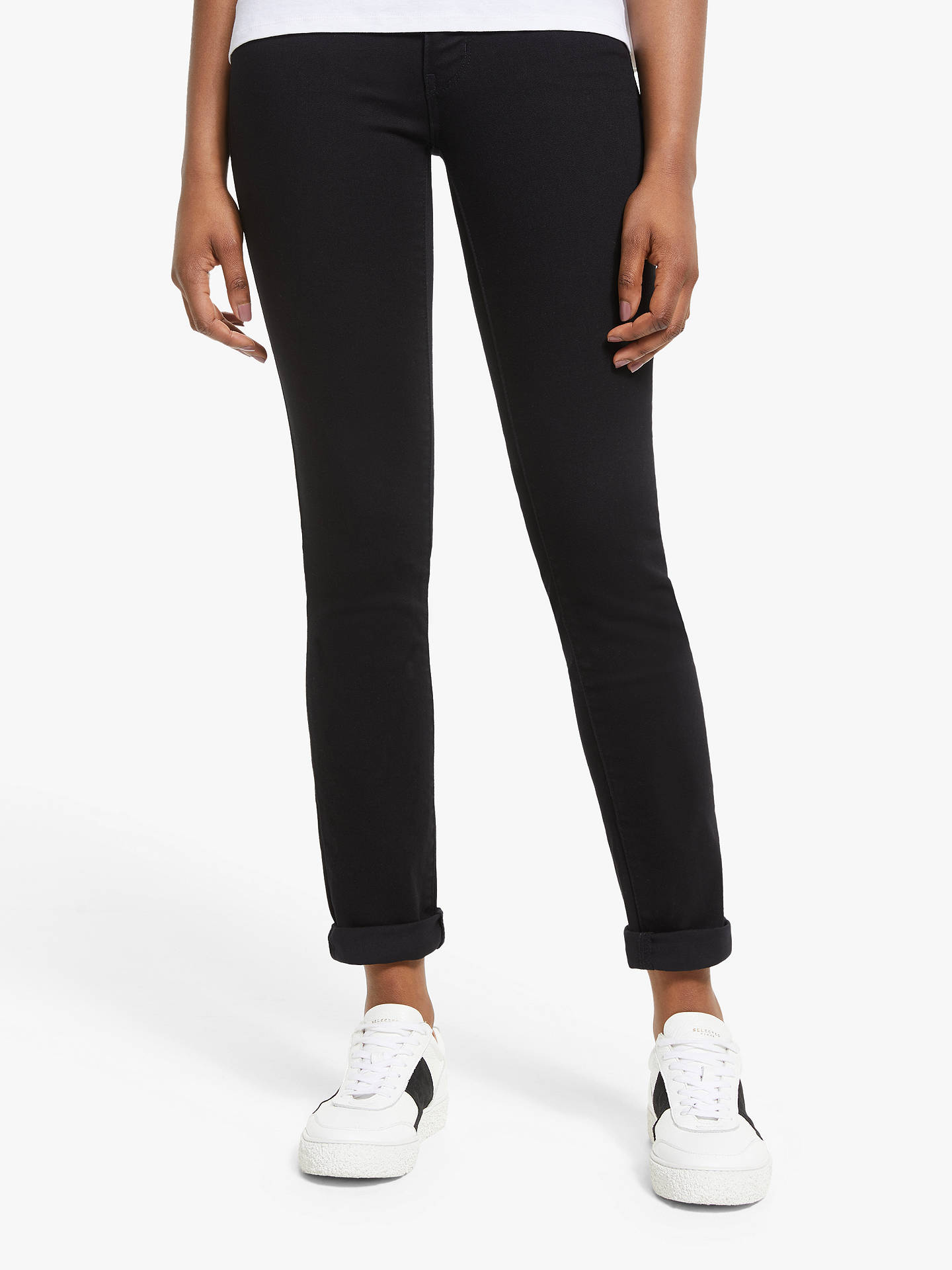 ca76315a1275 Buy Levi's 712 Mid Rise Slim Jeans, Black Sheep, W27/L30 Online at ...