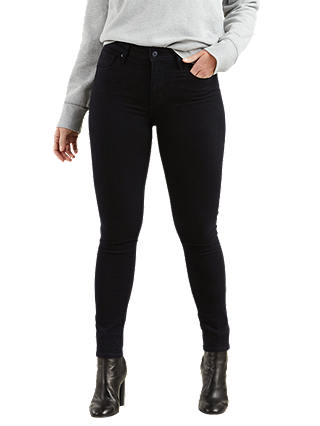 Buy Levi's 721 High Rise Skinny Jeans, Black Sheep, W27/L32 Online at johnlewis.com
