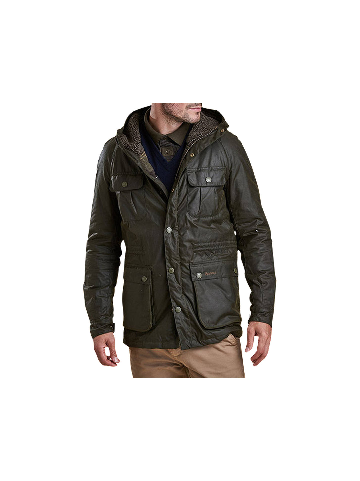 BuyBarbour Brindle Wax Jacket, Fern, S Online at johnlewis.com