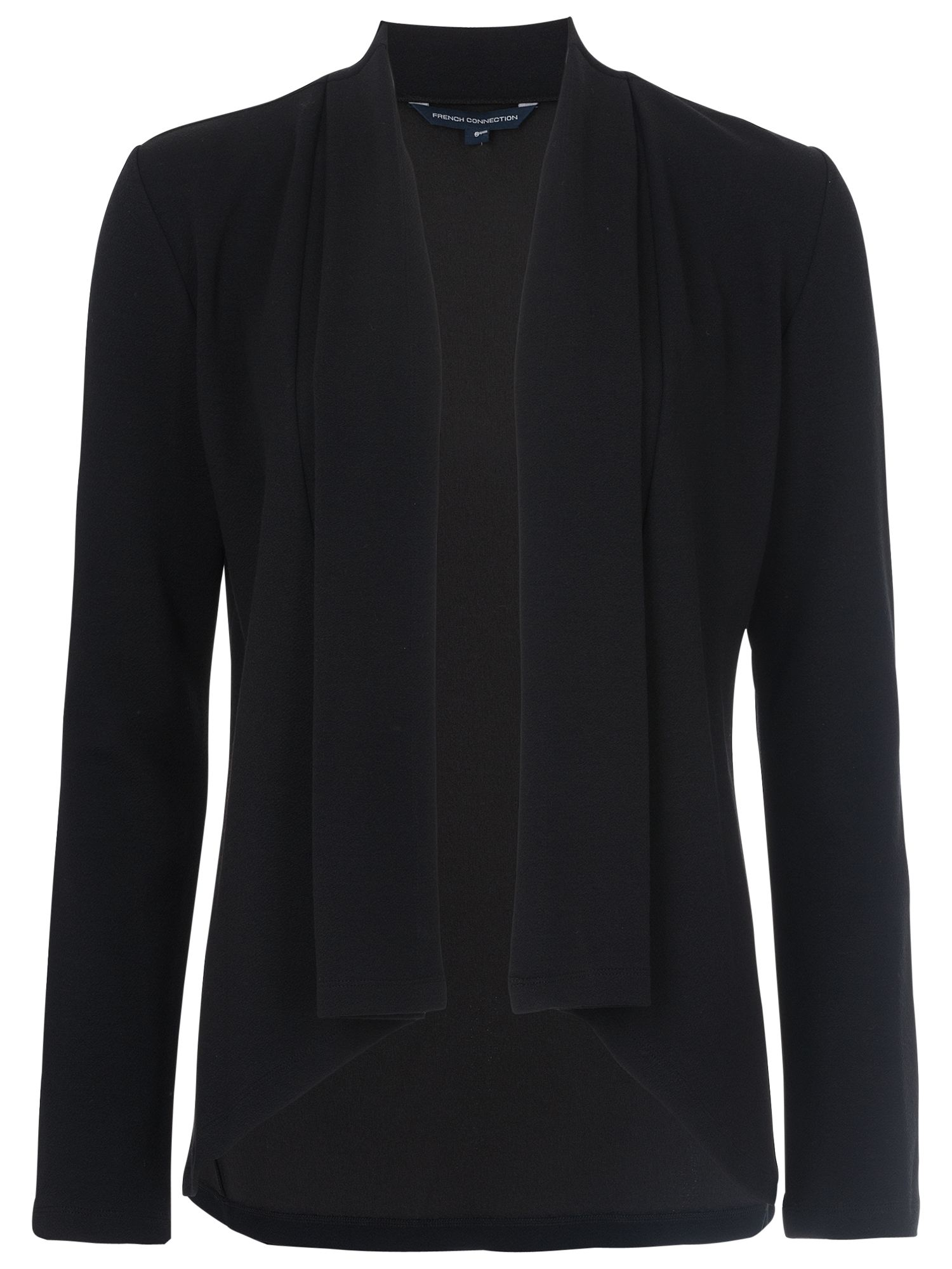 French Connection French Connection Josie Jersey Drape Jacket, Black
