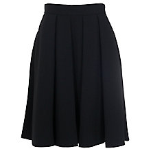 Buy French Connection Whisper Ruth Flared Skirt, Black Online at johnlewis.com