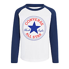 Buy Converse Boys' Chuck Patch Raglan, White/Navy Online at johnlewis.com