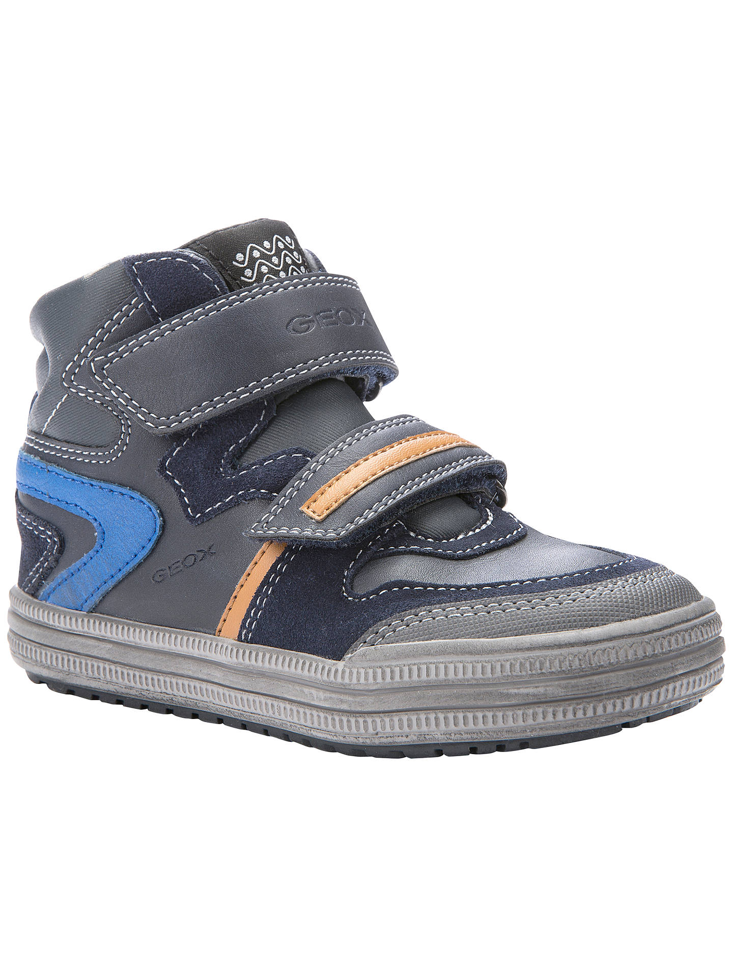 best service 15e2d 4868d Geox Elvis High Top Casual Trainers at John Lewis & Partners