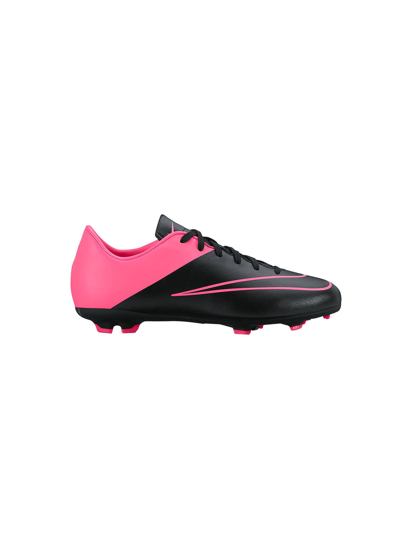 0fe4fe7a8a Buy Nike Children's Mercurial Victory V FG Football Boots, Black/Pink, 10  Jnr ...