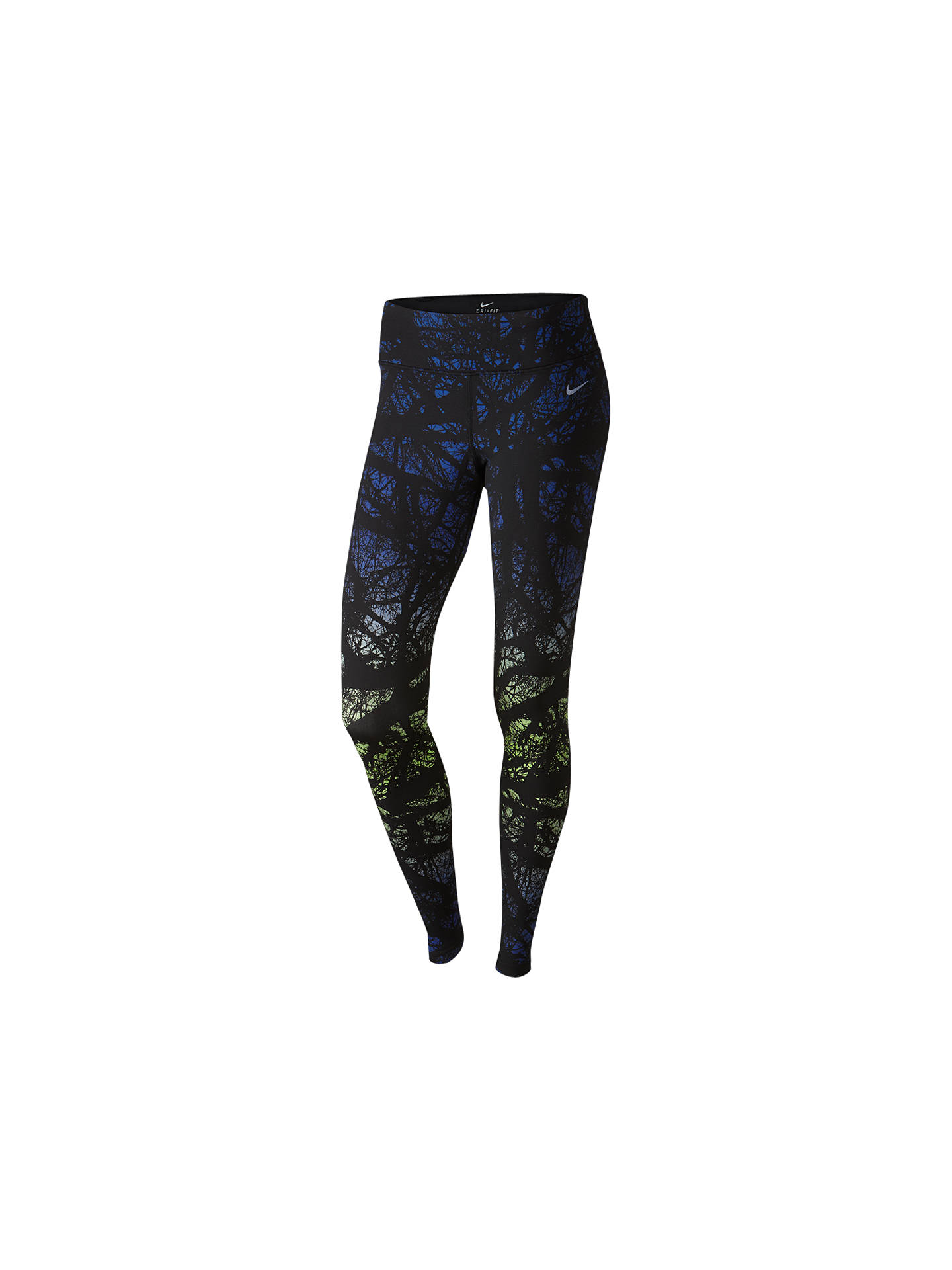 a34c524b3489f3 Buy Nike Engineered Enchanted Forest Printed Running Tights, Deep Royal  Blue/Ghost Green, ...