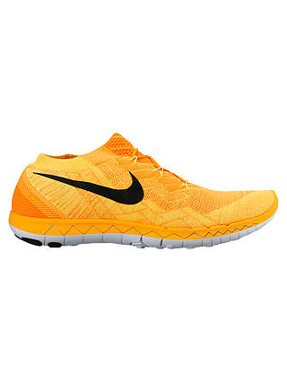 big sale 9bab5 aaf15 Nike Free 3.0 Flyknit Men's Running Shoes, Orange/Black at ...