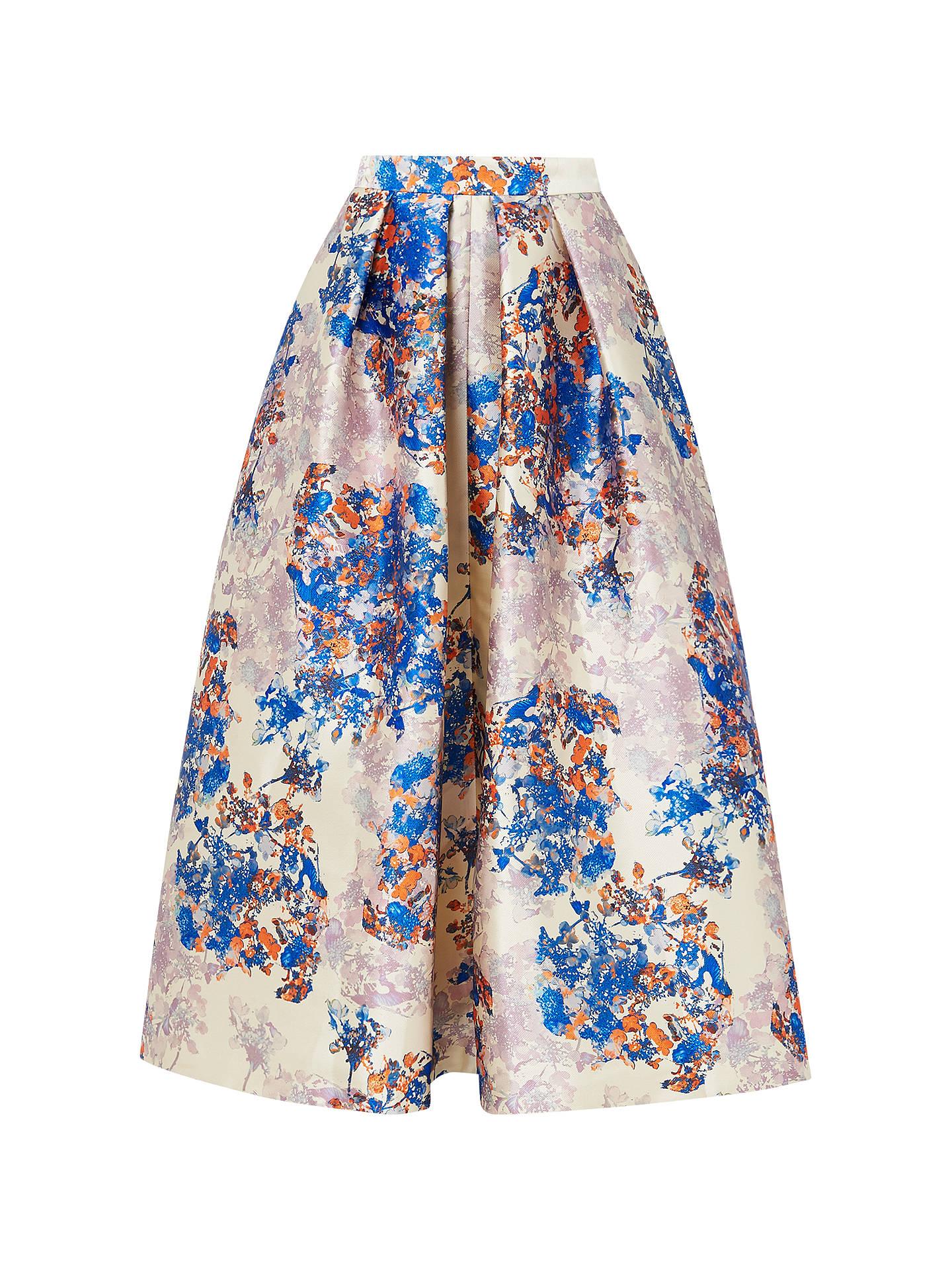 cc34922591 Buy L.K. Bennett Kenton Emilia Print Skirt, Multi, 6 Online at  johnlewis.com ...
