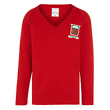 Buy Moorfield School Unisex Pullover, Red Online at johnlewis.com