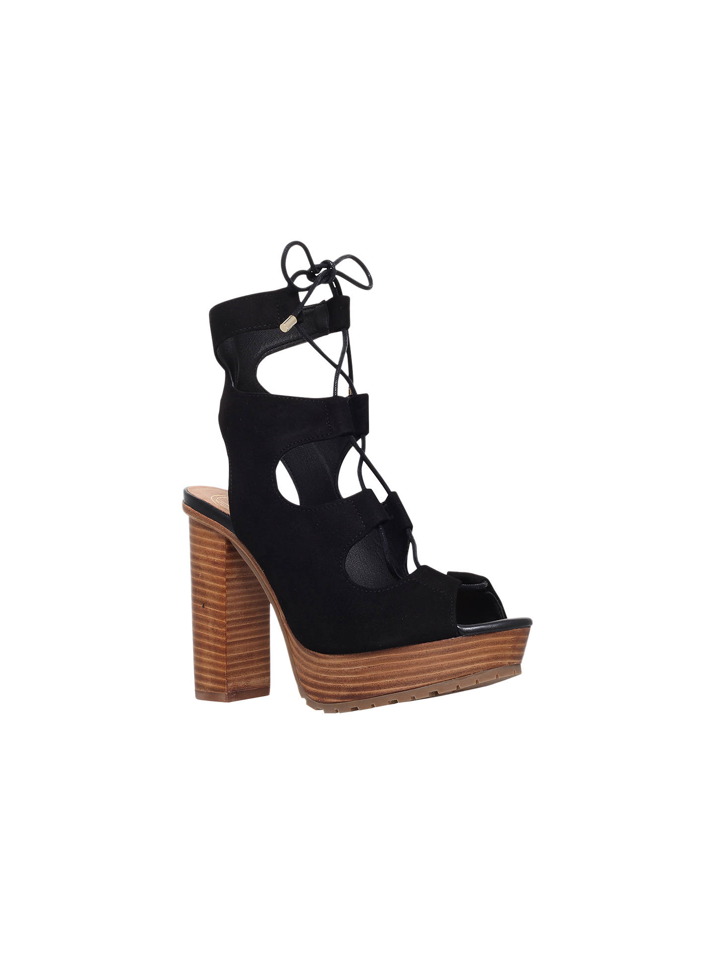 390e171e2163 KG by Kurt Geiger Henna Lace Up Block Heeled Sandals at John Lewis ...