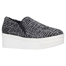 Buy KG by Kurt Geiger Lizard Flatform Trainers, Grey Online at johnlewis.com