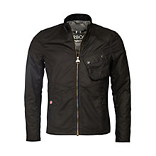 Buy Barbour International Legion Bonner Wax Jacket, Black Online at johnlewis.com