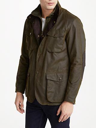 Barbour Ogston Waxed Jacket, Olive