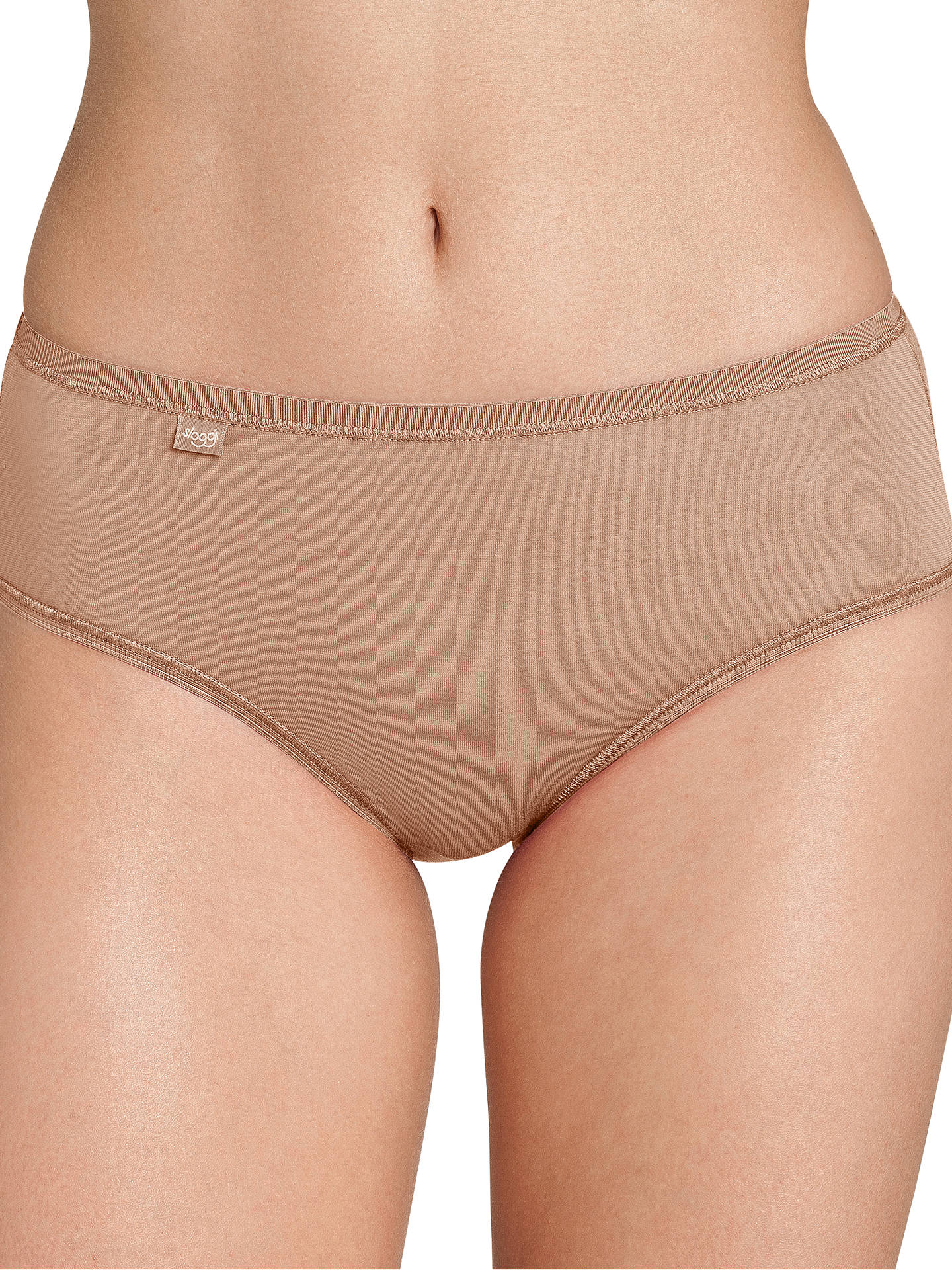 Buysloggi EverNew Midi Briefs, Nude, 10 Online at johnlewis.com