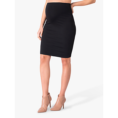 Séraphine Cathy Bodycon Maternity Pencil Skirt, Black