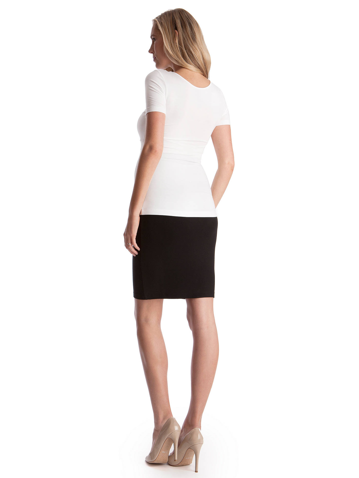 e05f3e3210cd1 ... Buy Séraphine Cathy Bodycon Maternity Pencil Skirt, Black, S Online at  johnlewis.com ...
