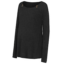 Buy Séraphine Austin Maternity Nursing Jumper, Charcoal Online at johnlewis.com