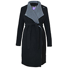 Buy Séraphine Donatella Maternity Coat, Black/Grey Online at johnlewis.com