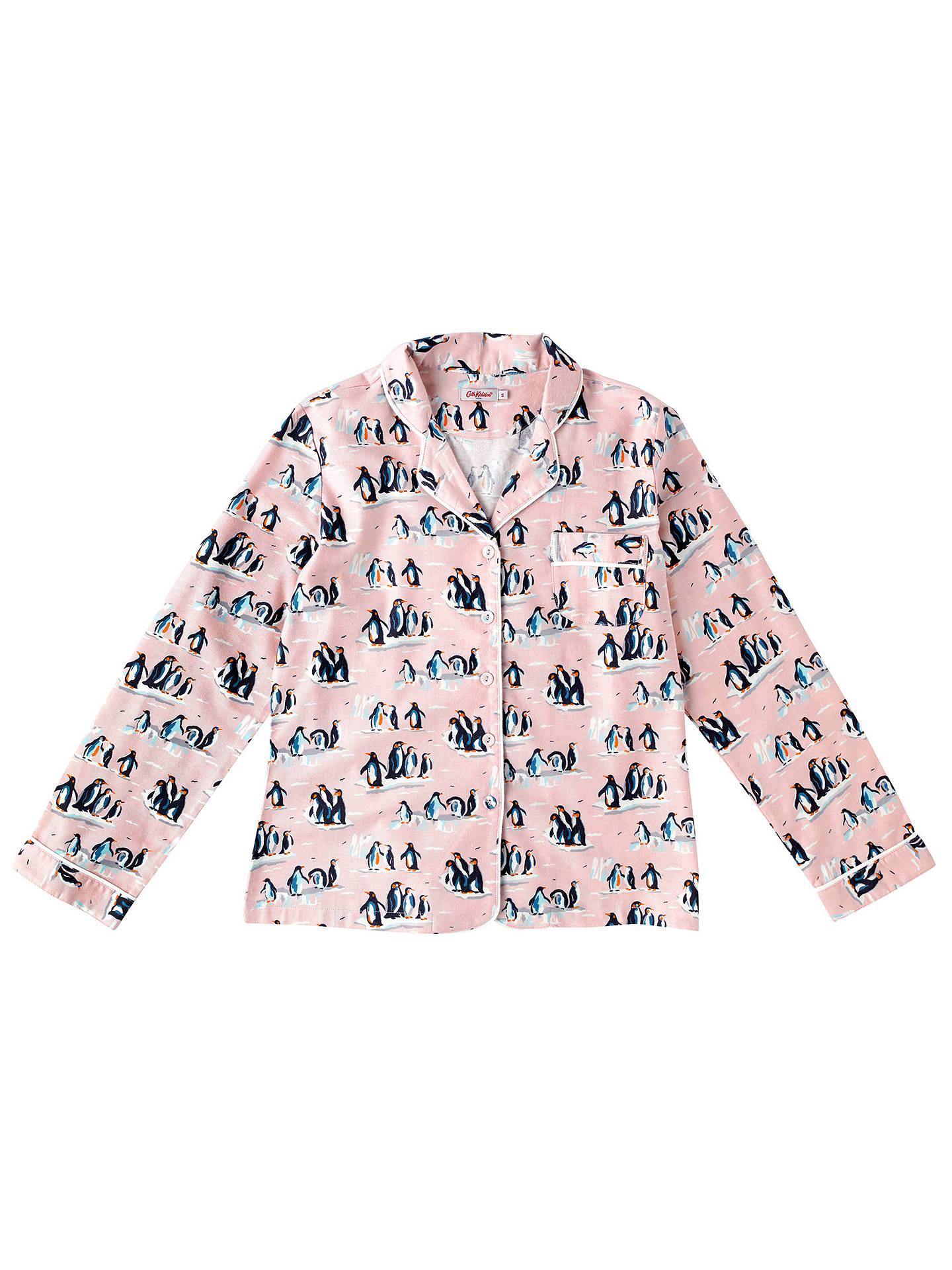 Buy Cath Kidston Penguin Pyjama Set, Pink, XS Online at johnlewis.com
